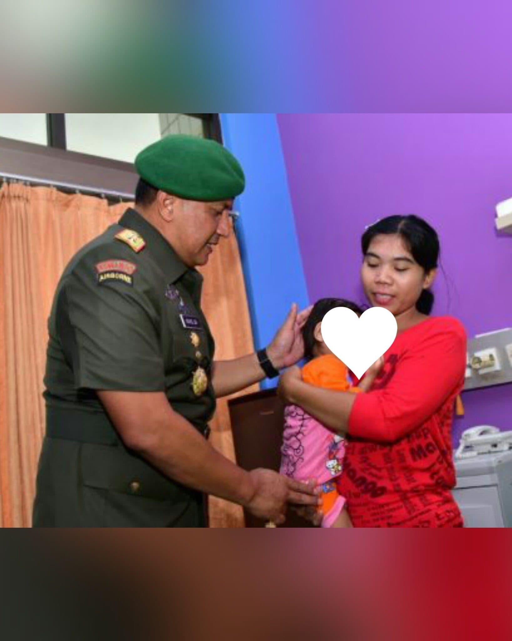 Pangdam VII Wirabuana Tanggung Biaya Operasi Anak (2,5 th) Penderita Tumor Mata