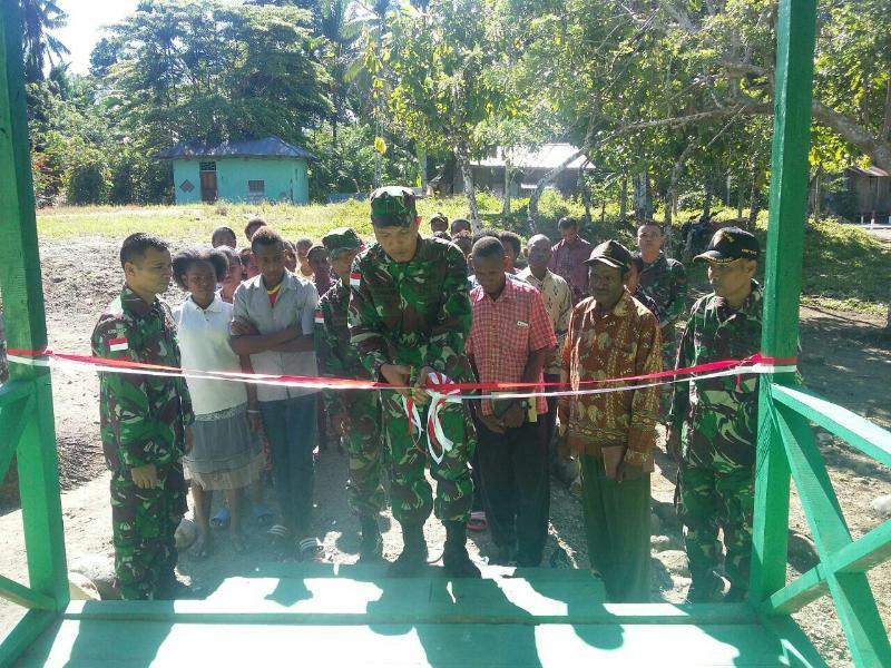 TNI Resmikan Gereja di Pedalaman Kampung Kibay.