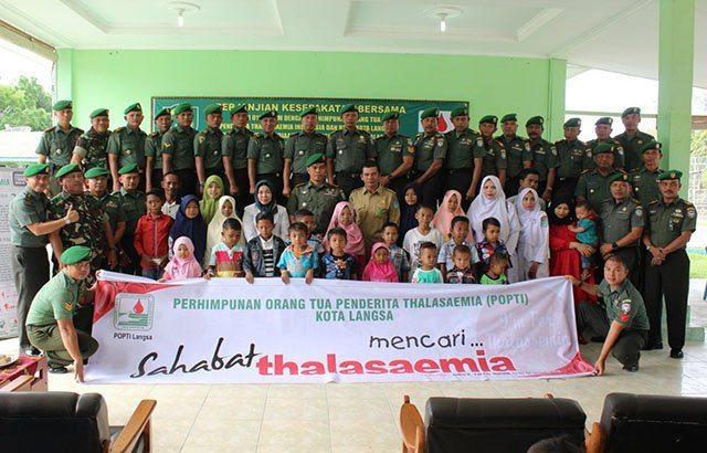 Anggota Kodim 0104/Atim Siap Donorkan Darah bagi Penderita Thalassemia.