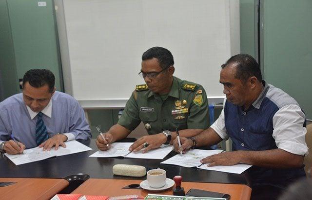 Penandatanganan Memorandum of Agreement Kepemilikan Rumah Murah Bagi Prajurit