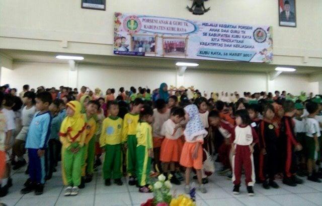 Yayasan Kartika Jaya Cabang XVII/Tanjungpura Gelar Porseni TK se-Kubu Raya
