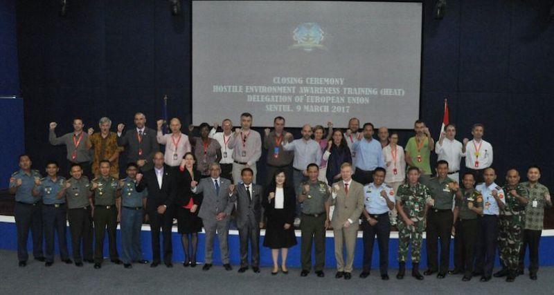 Kemlu dan TNI Sukses Gelar Pelatihan Perdana 20 Diplomat Uni Eropa