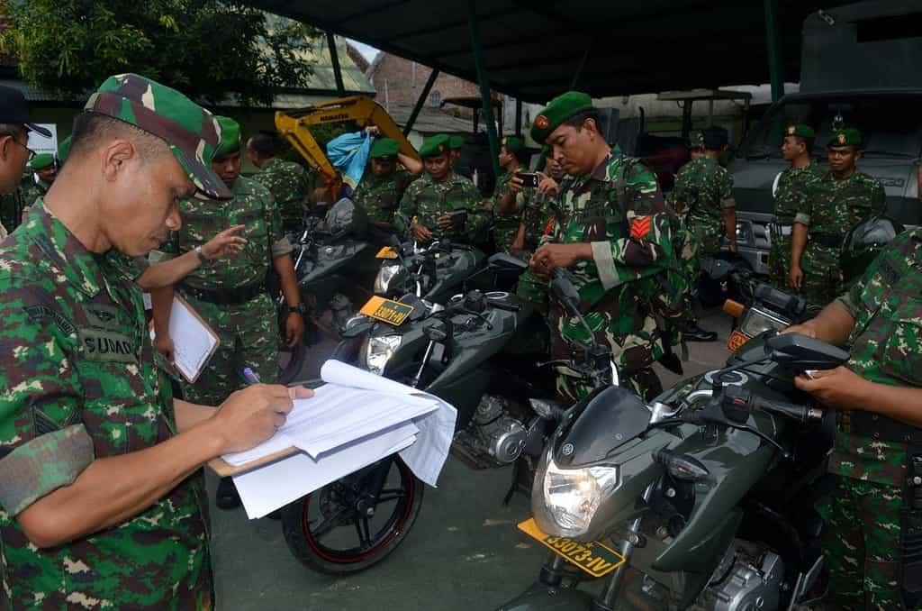 Wujudkan Tertib Berlalu Lintas dan Berkendaraan, TNI Gelar Pemeriksaan Kendaraan