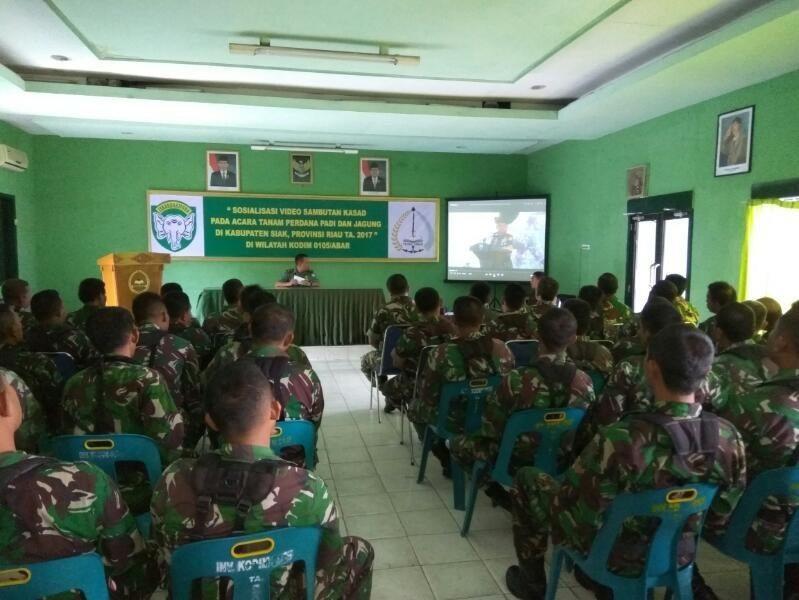 Gelar Sosialisasi Pengarahan Kasad, Kodim 0105/Aceh Besar Siap Wujudkan Swasembada Pangan