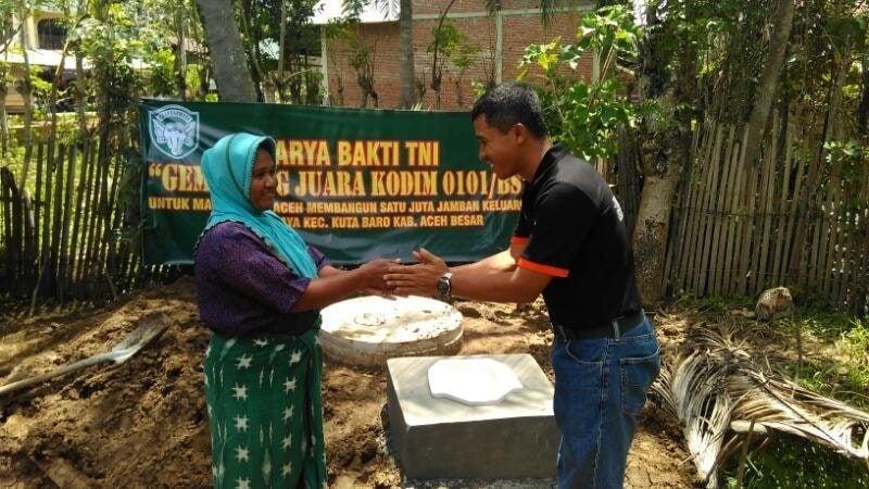 Bersama Aster, Dandim 0101/BS Bangun Satu Juta Jamban Untuk Masyarakat Aceh