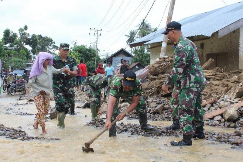 Kodim 0108/Agara Terus Optimalkan Bantu Korban Banjir Bandang
