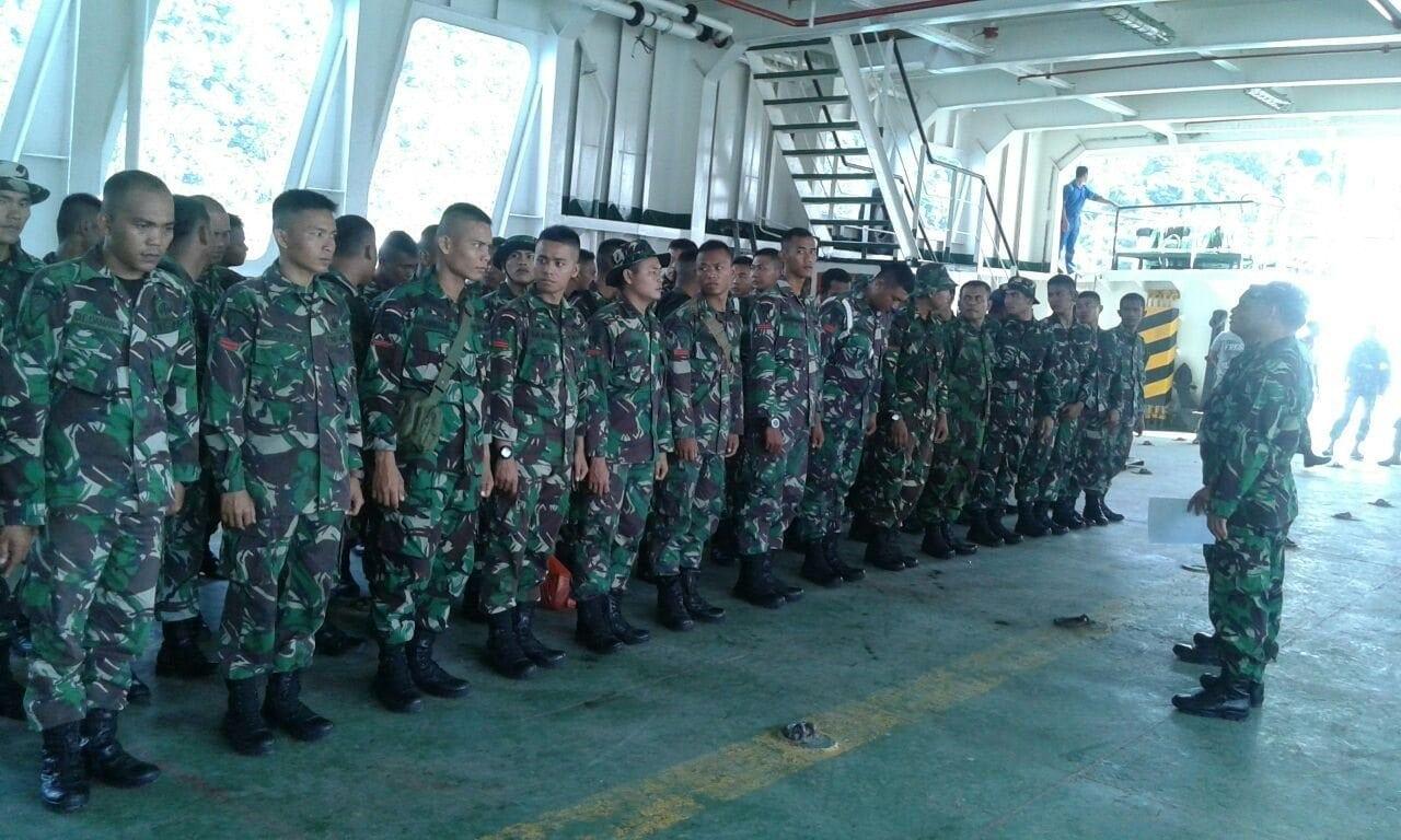 71 Personel TNI Berangkat Menuju Mentawai Melaksanakan TMMD