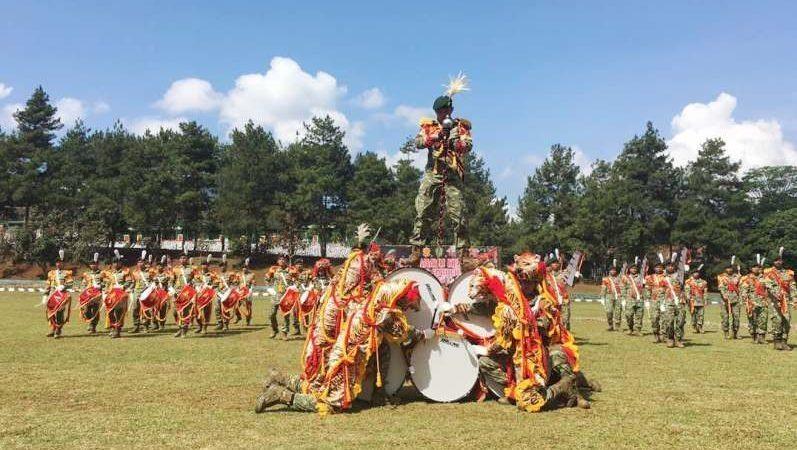 HUT ke 65 Yonif PR 330 Kostrad, Resmikan Drum Band Dharma Loka