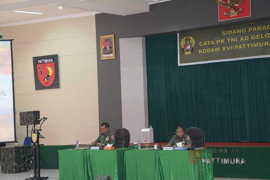 Pangdam XVI/Pattimura : Sidang Parade Dilandasi Untuk Kepentingan Organisasi TNI AD