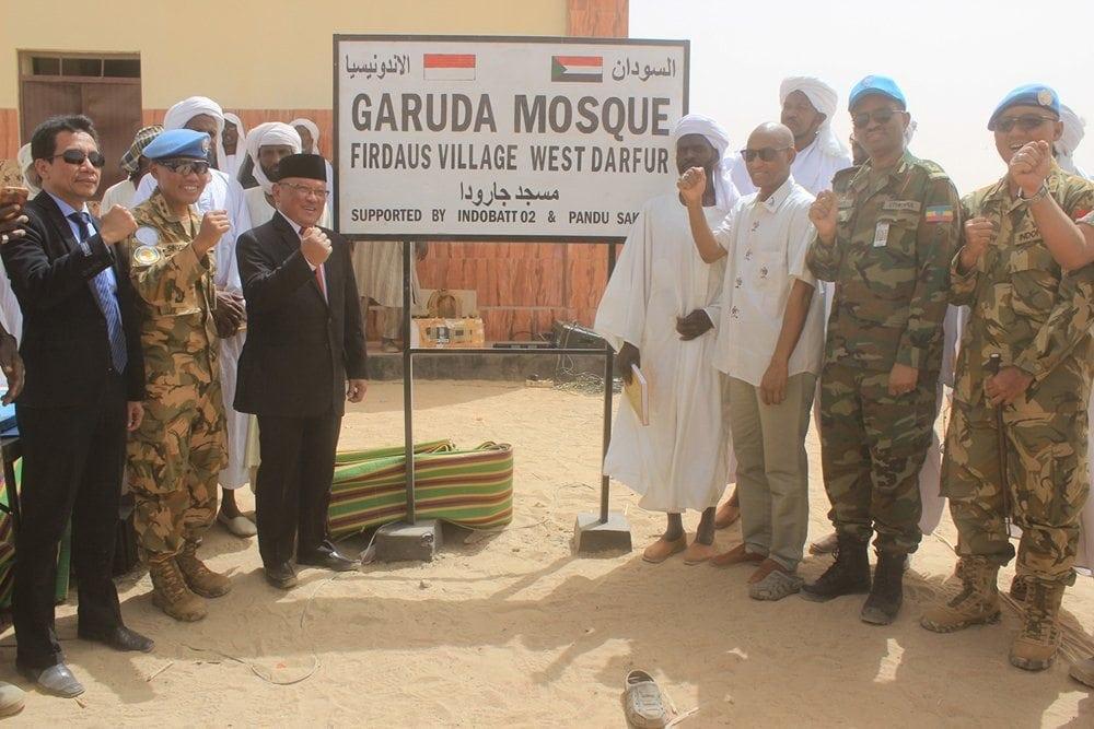 Pasukan Garuda Bangun Masjid Untuk Masyarakat Sudan