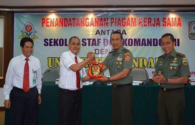 Sesko TNI Jalin Kerjasama Dengan Universitas Andalas