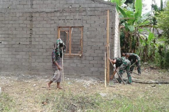 Kodim 0107/Aceh Selatan Kebut Pembangunan 4 Unit Rumah Layak Huni