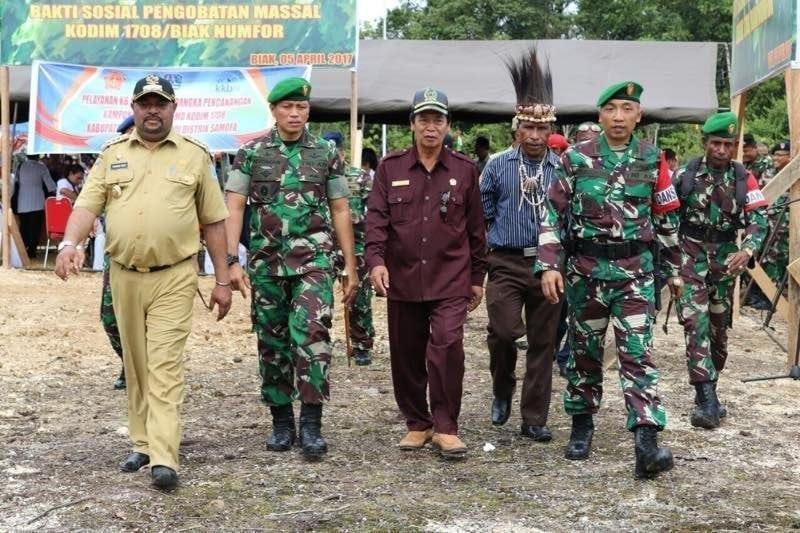 TMMD Ke-98 Di Distrik Samofa Bantu Pemerintah Percepat Pembangunan