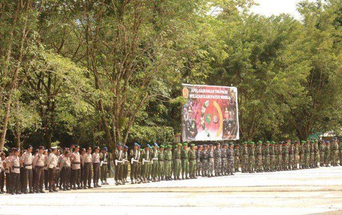 TNI-Polri Apel Bersama Antisipasi Demo Karyawan Freeport di May Day