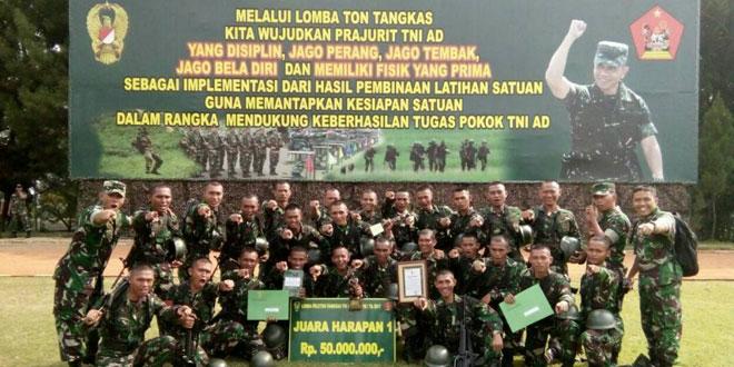 Tim Ton Tangkas Kodam IV/Diponegoro Raih Juara Harapan I