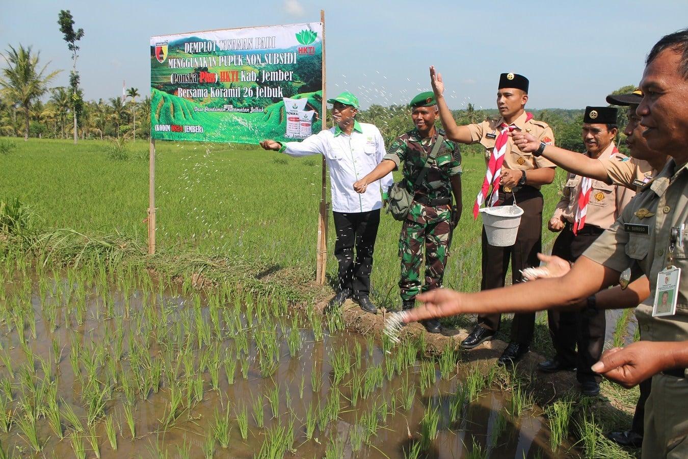 HKTI Jember dan TNI Siap Jadikan Jember Bagian Utara Produktif Pertanian