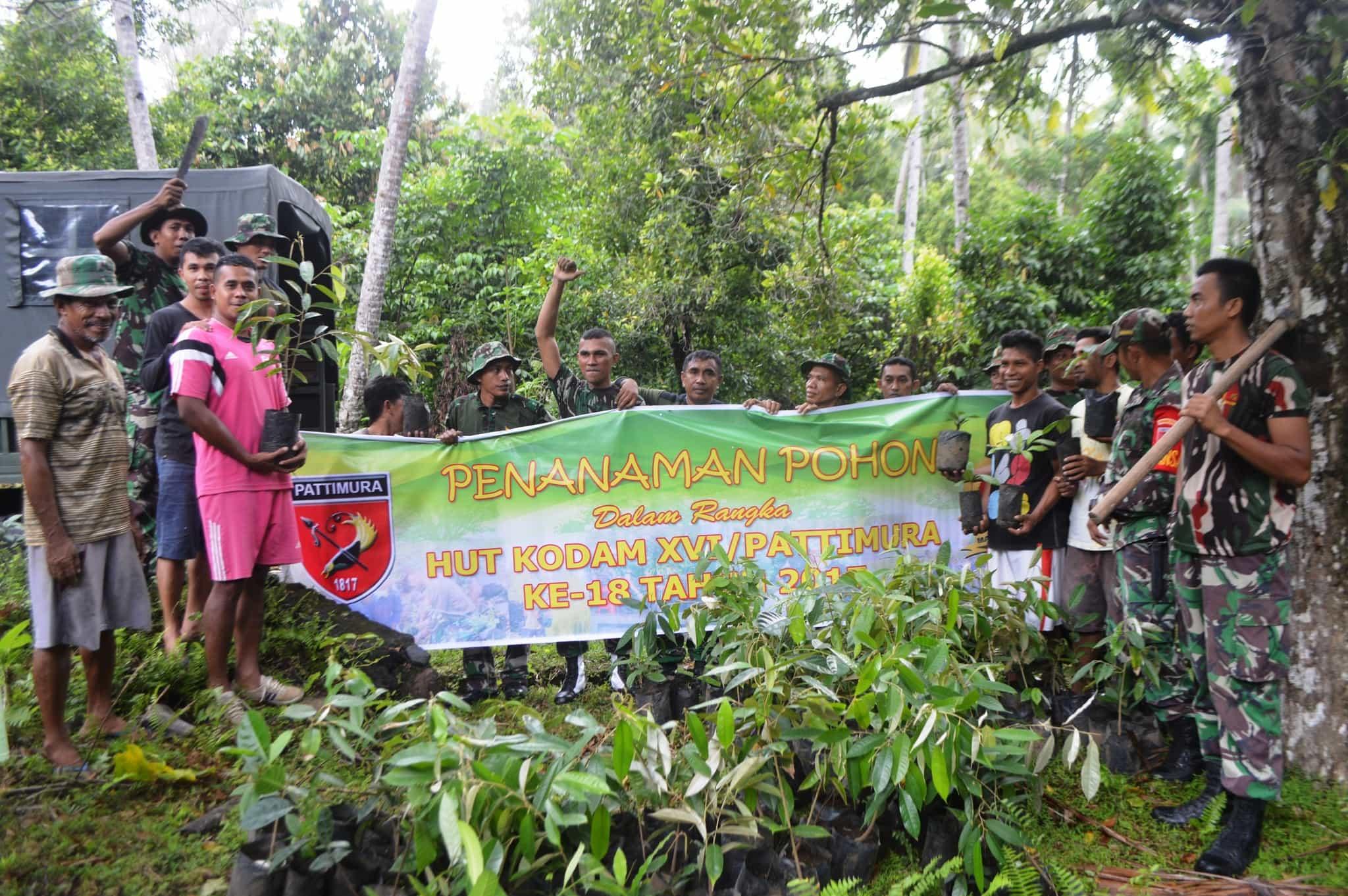 Peduli Lingkungan, Korem 152/Babullah Laksanakan Penghijauan 18.000 Pohon