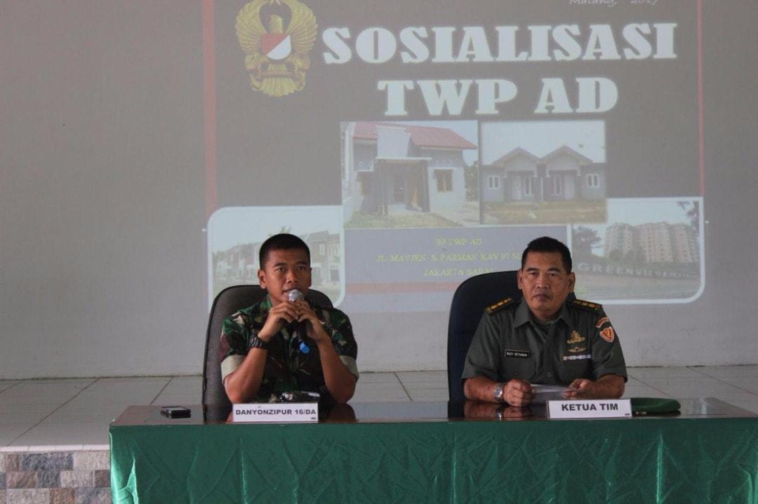 Sosialisasi TWP dan KPR Guna Menjamin Perumahan Prajurit TNI AD