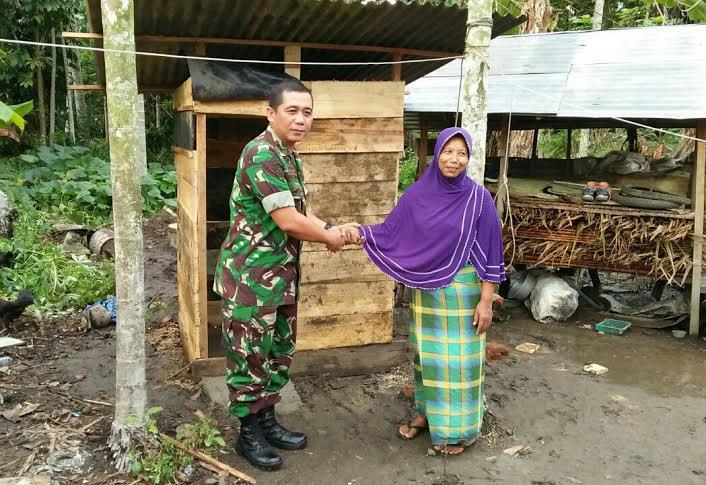 Prajurit TNI Hadirkan Program Jambanisasi Bagi Warga Miskin
