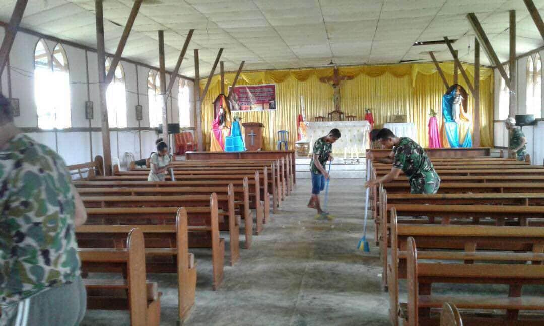 Membersihkan Lingkungan Tempat Ibadah, Wujud Kerukunan Antar Umat Beragama