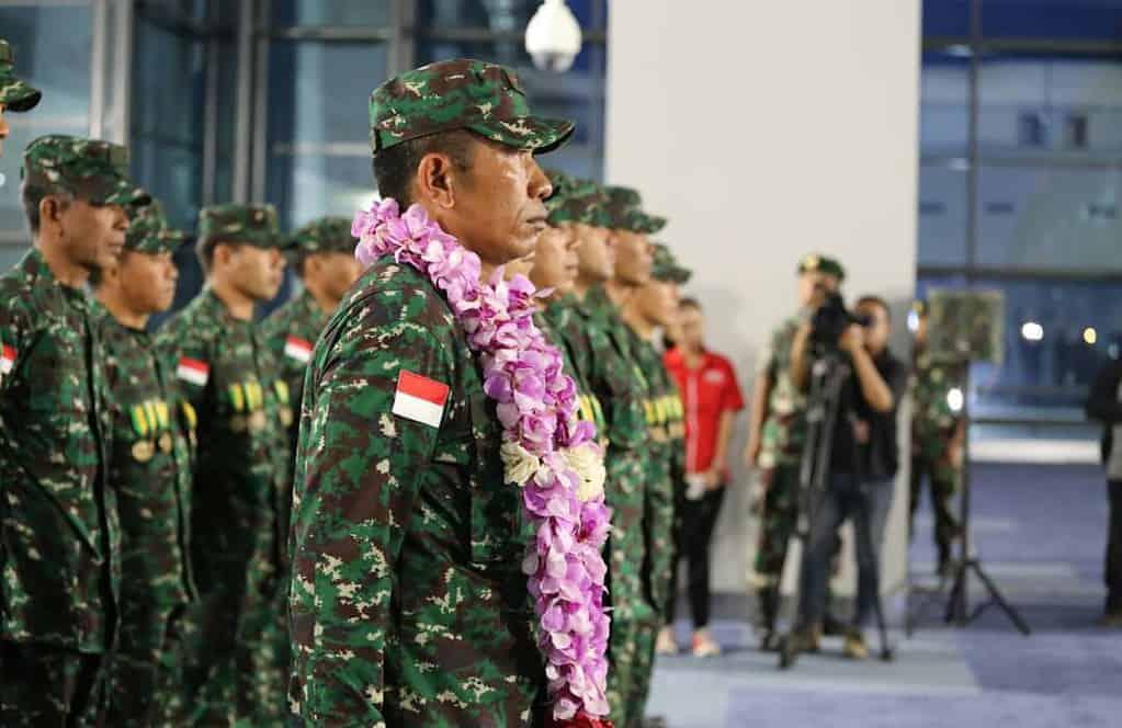 Tim Petembak TNI AD yang Menjuarai Lomba Tembak AASAM Tiba di Indonesia