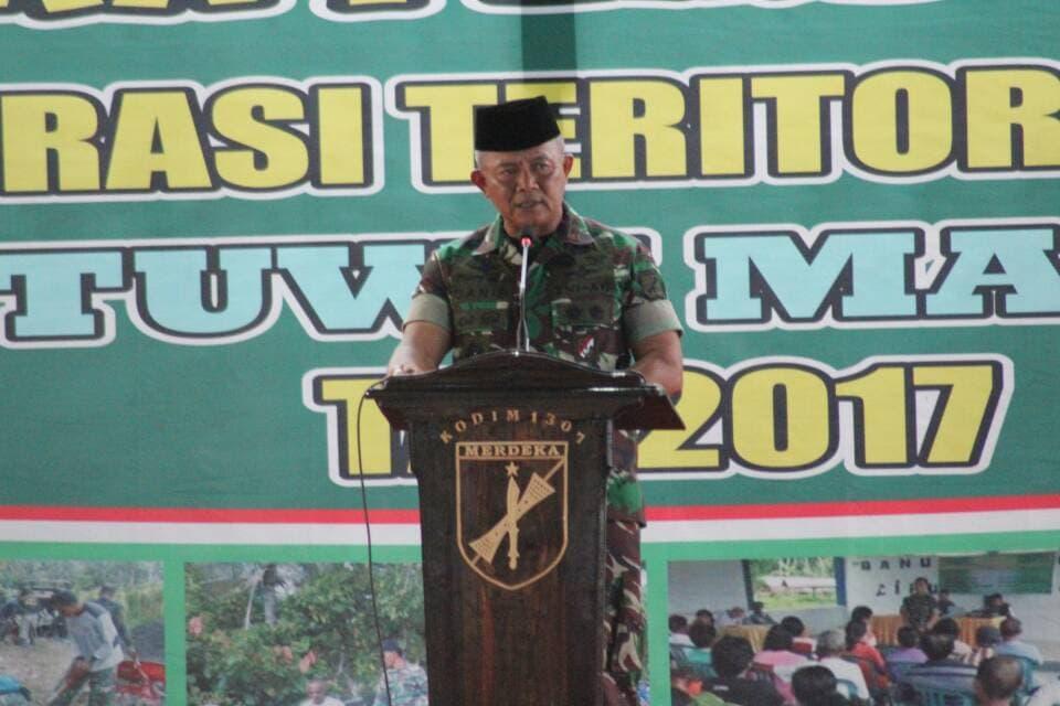Satgas Opster TNI Siap Membantu Masyarakat Poso
