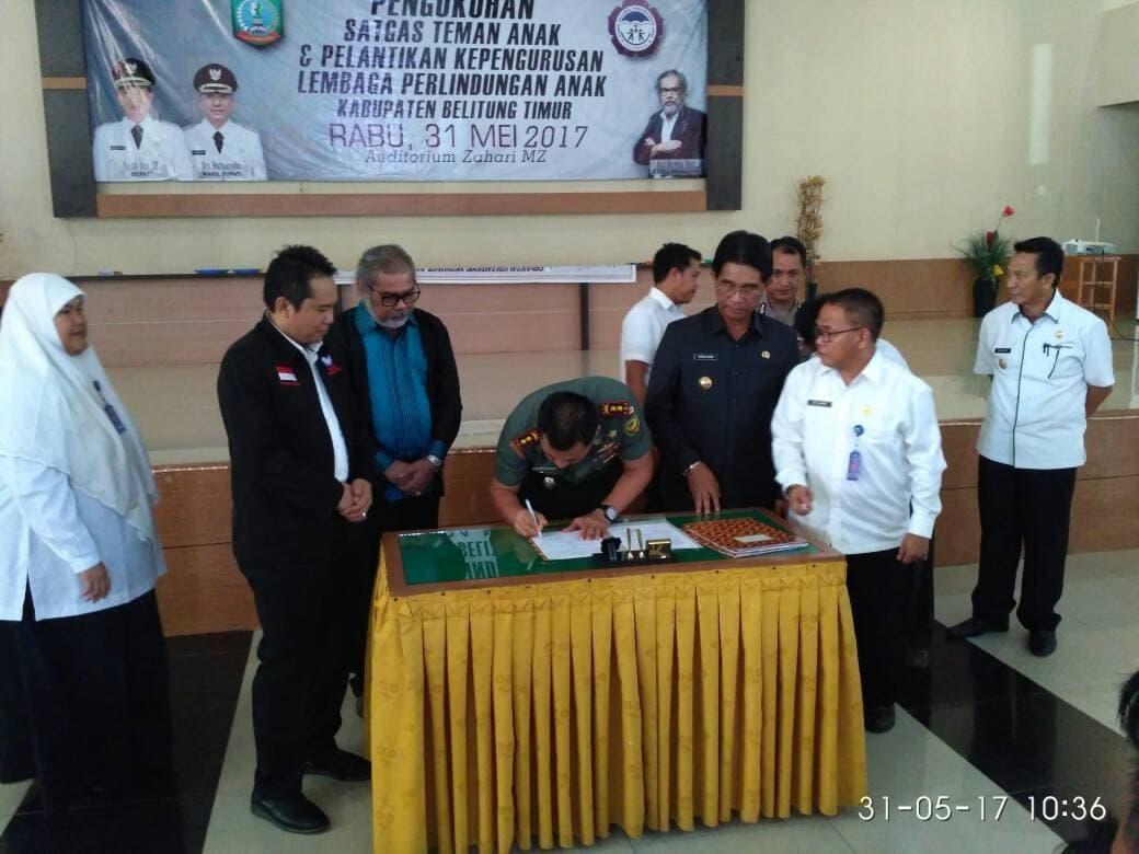 TNI MoU dengan Pemkab Belitung Timur untuk Tanggulangi Kenakalan Remaja