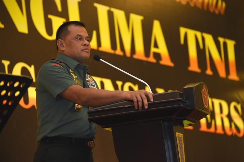 Panglima TNI : TNI Dalam Tugas Sehari-Hari Tidak Lepas Dengan Pers
