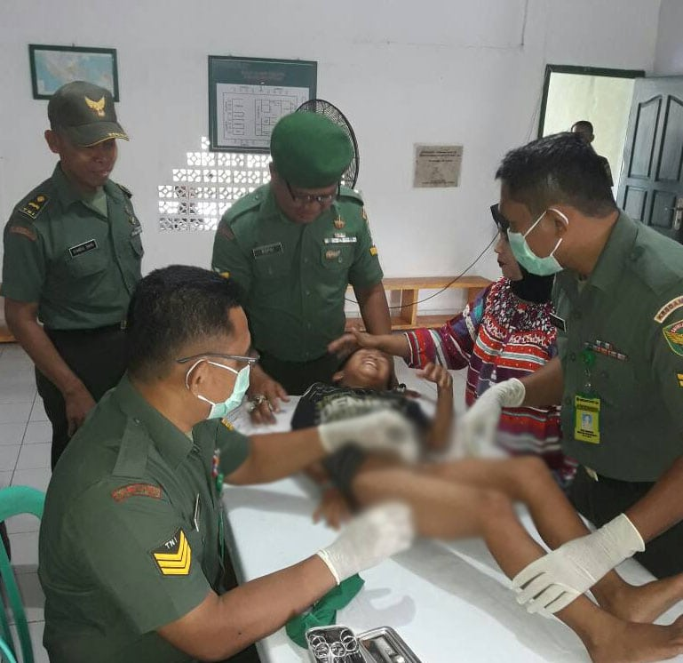 Wujud Kepedulian TNI, Korem Gelar Sunatan Massal Keliling