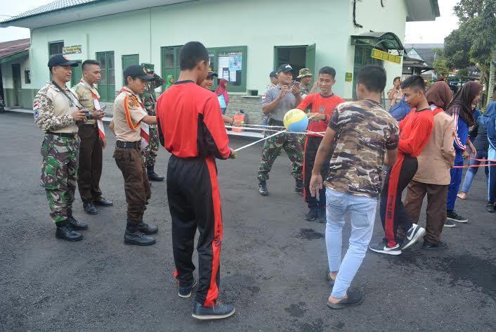 TNI Bentuk Jiwa Generasi Muda Melalui Outbound