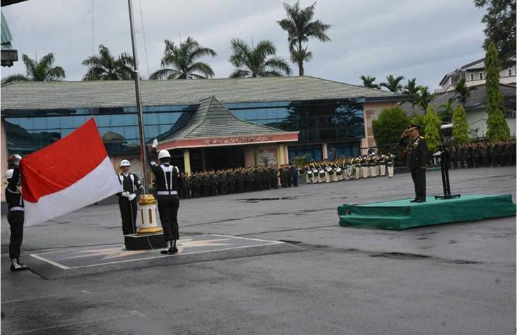 Prajurit dan PNS se-Garnisun Palembang Peringati Hari Kelahiran Pancasila
