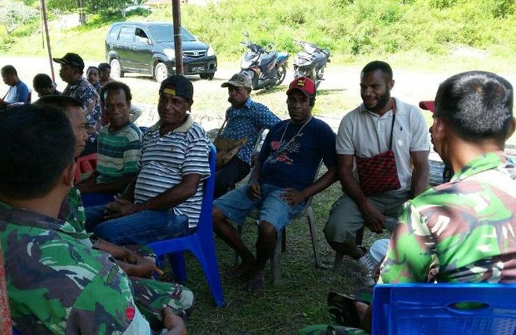 Berkat Babinsa, Impian Masyarakat Hamonggrang Akan Jalan Kampung Dapat Terwujud