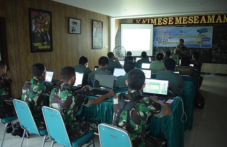 Korem Gelar Pelatihan Pembuatan Rilis Berita dan Pengisian Website