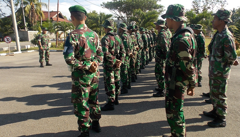 Kodim Bireuen Siagakan 1 SST Personel Amankan Mudik Lebaran