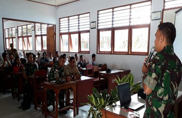 Peduli Generasi Muda, TNI Gelar Sosialisasi Bahaya Narkoba dan Bela Negara