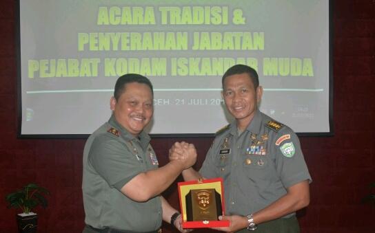 Pangdam IM Pimpin Sertijab Staf Ahli Bidang Manajemen Sishanneg
