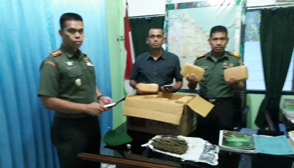 Anggota Kodim Aceh Timur Gagalkan Transaksi Narkoba