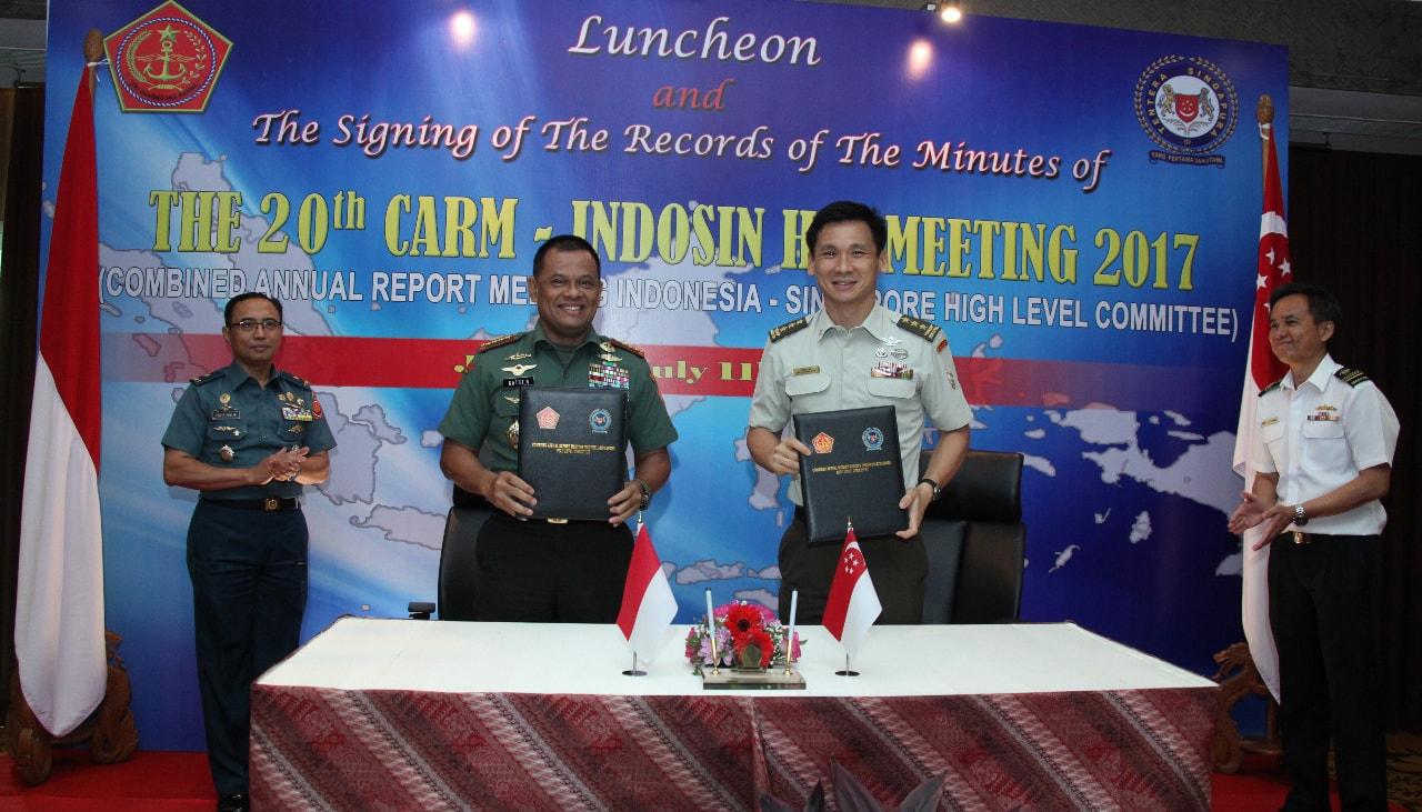 Panglima TNI: Indonesia dan Singapura Ciptakan Perdamaian Kawasan