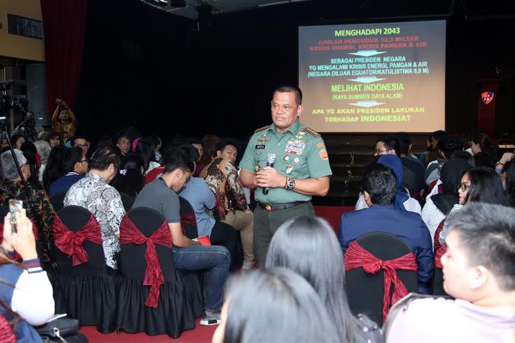 Panglima TNI : Mahasiswa Harus Menjadi Kader Public Relations Berwawasan Kebangsaan