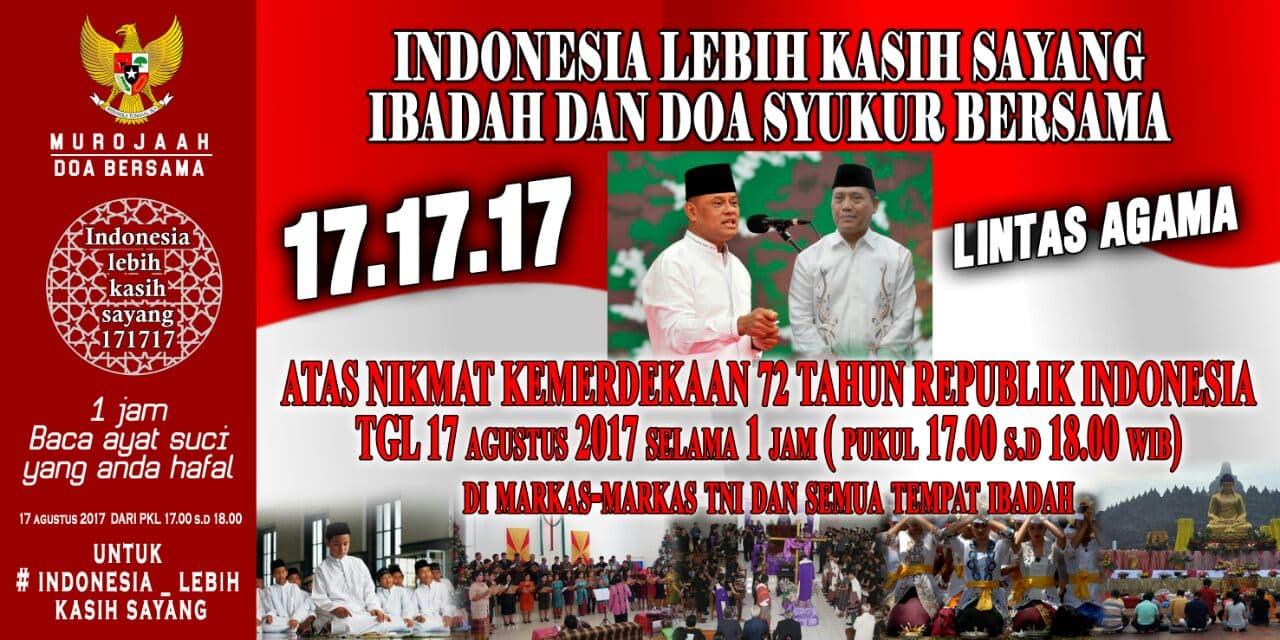 Doa Lintas Agama 17.17.17 Untuk Indonesia Lebih Kasih Sayang