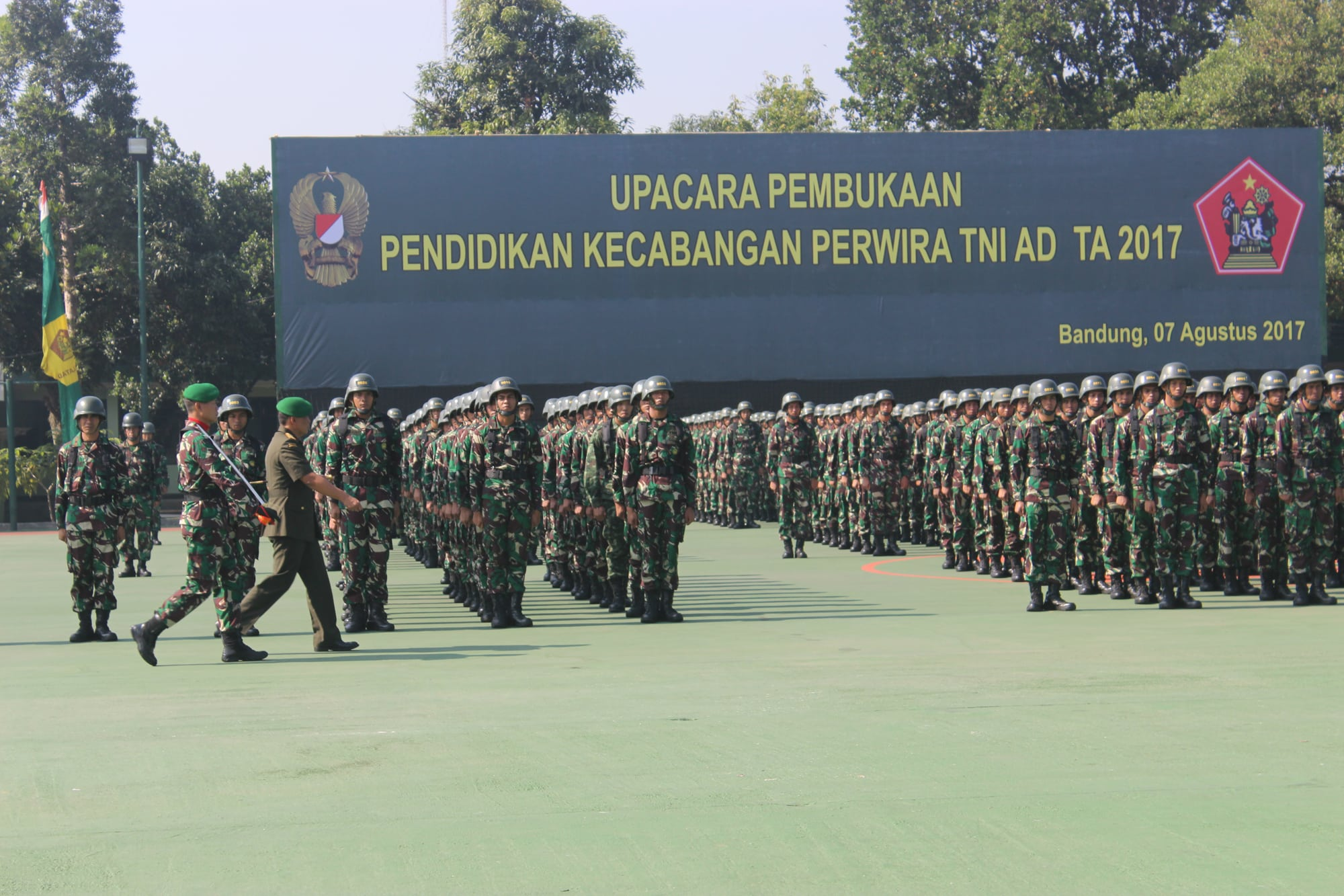 1.147 Perwira Ikuti Pendidikan Kecabangan TNI AD TA. 2017.