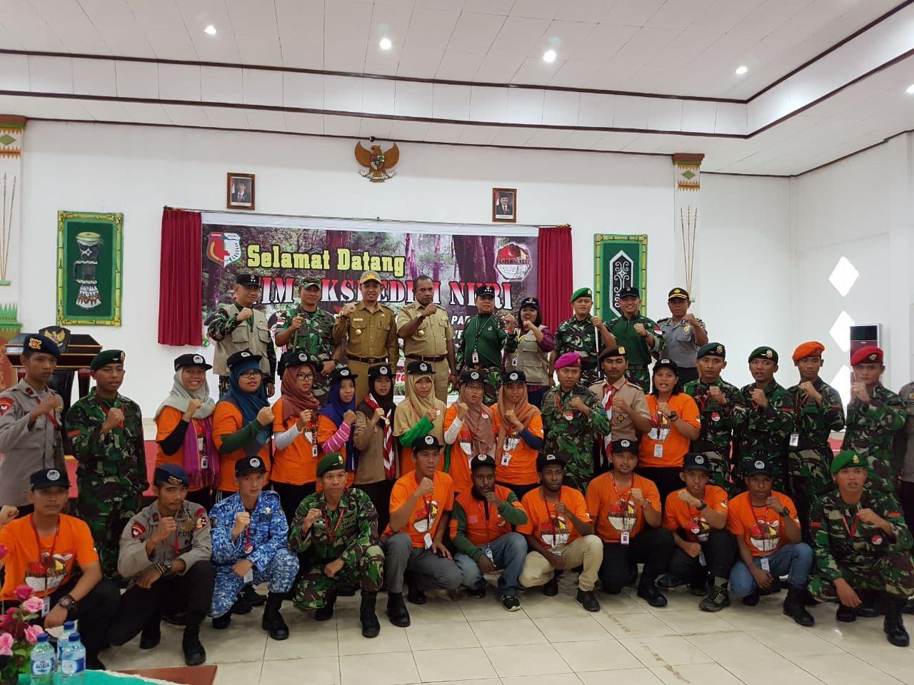 Tarian Oksang Sambut Tim Ekspedisi NKRI 2017 Di Boven Digoel