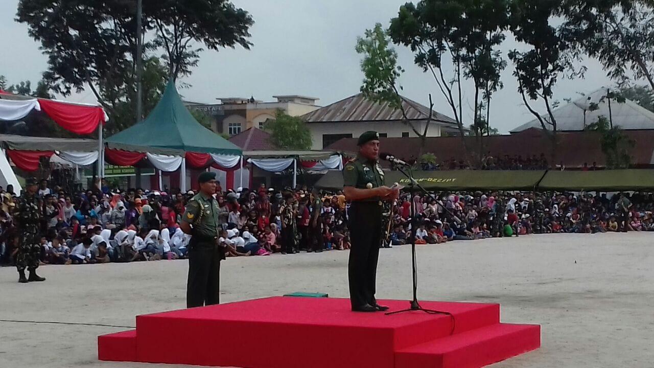 Pangkostrad Menutup TMMD ke-99 Kodim Tanjung Balai Karimun