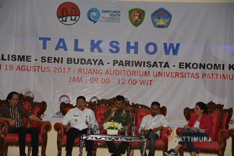 Unpatti Gelar Talk Show Kebangsaan Hadirkan Irjen Kemenhan RI dan Pangdam Pattimura