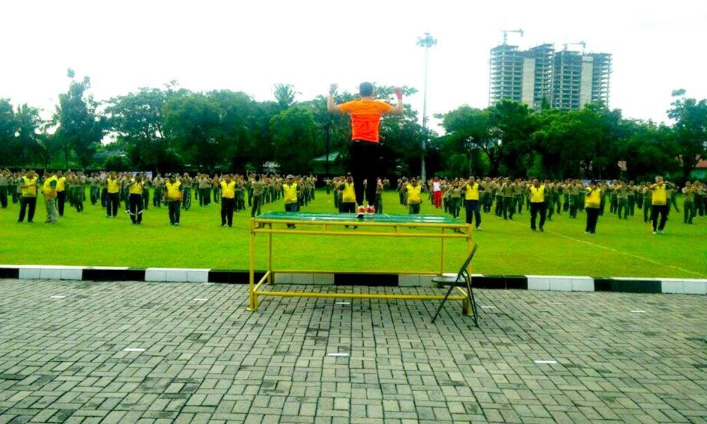 Olahraga Bersama Tumbuhkan Semangat Persaudaraan TNI, Polri Dan Forkompinda Sumut
