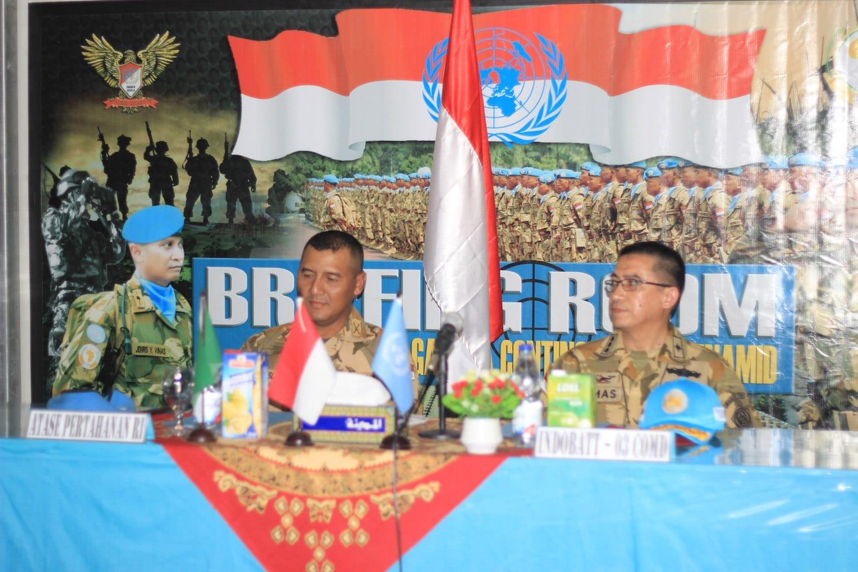 Atase Pertahanan RI Kunjungi Satgas Indobatt-03 di Sudan