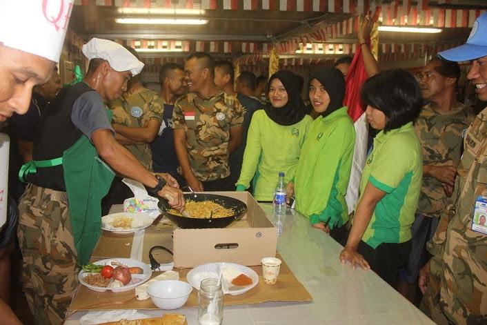 "Nasi Goreng ""Angin Laut"" Juarai Lomba Masak ""Peacekeepers Indobatt-03"""