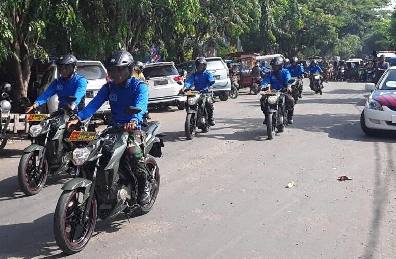 Puluhan Motor Babinsa Meriahkan HKN di Lhokseumaw