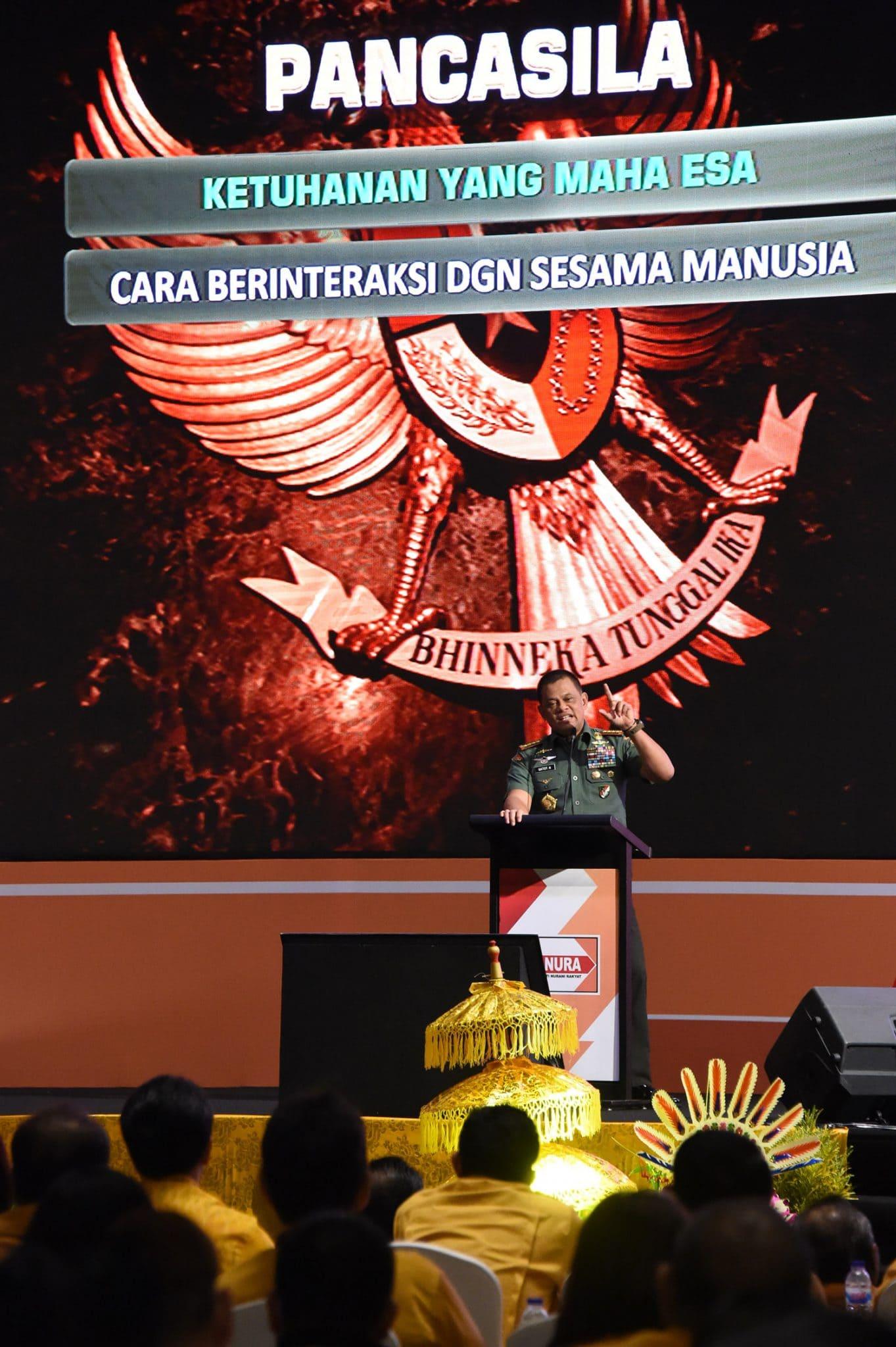 Panglima TNI : Pancasila Tidak Boleh Dirubah