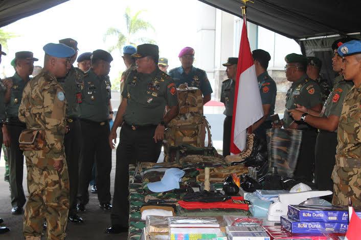 Pasukan Garuda Gelar Apel Kesiapan Personel dan Perlengkapan